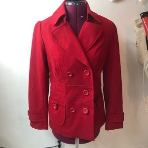 Forever 21 Red Coat Large